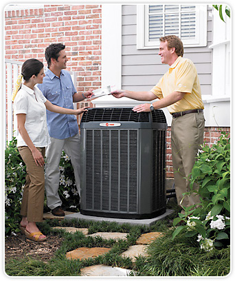 HVAC dealer with homeowner